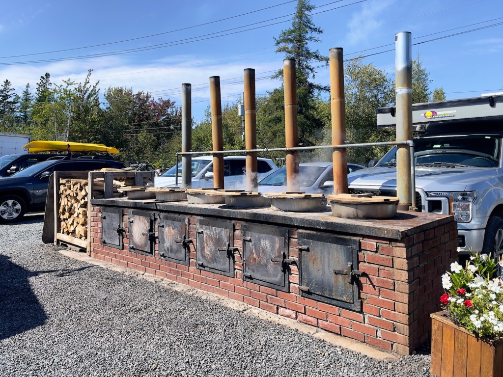 wood-fired lobster pots